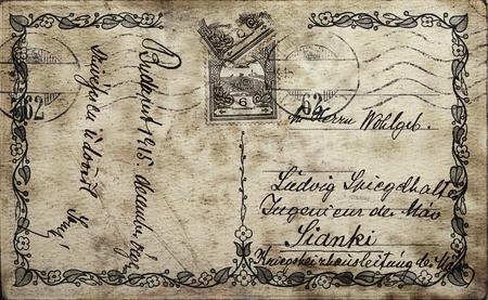 Vintage postcard w Stock Photo - 9114880