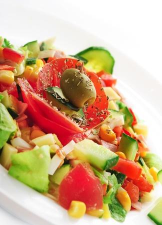 Decorative colorful salad  photo