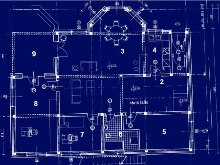 reconstruction: blueprint Illustration