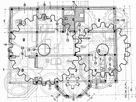 architectural plan Banco de Imagens - 9506209