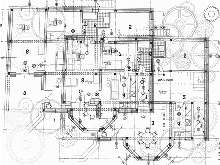 architectural plan Vector