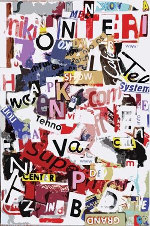 vectro: Vectro grunge text Illustration