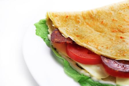 Decorative salty pancake  Stock Photo - 9673017