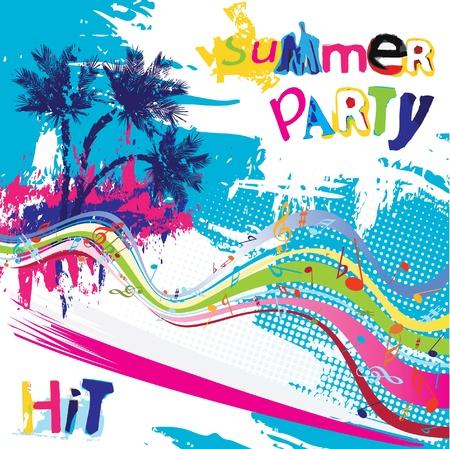 fiesta dj: Diseño de fiesta de verano