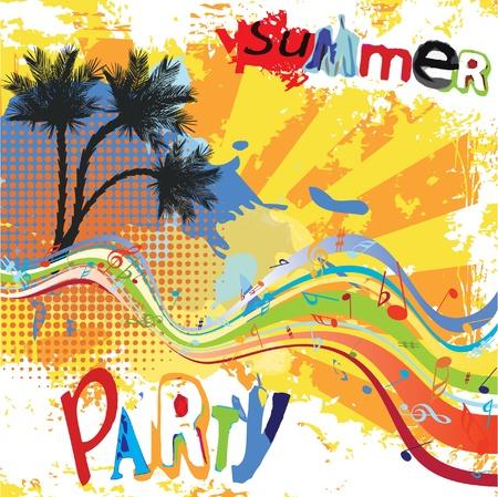 fiesta en la playa: Dise�o de parte de verano