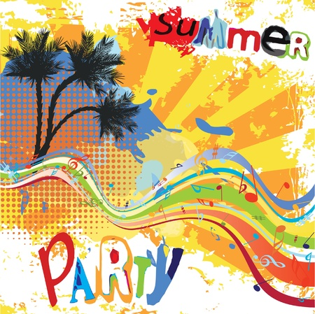 Summer party design Stock Vector - 10045886