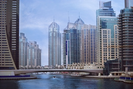 marina life: Big city, Dubai Marina, United Arab Emirates Stock Photo