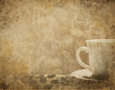Vintage coffee background Banco de Imagens - 10966536