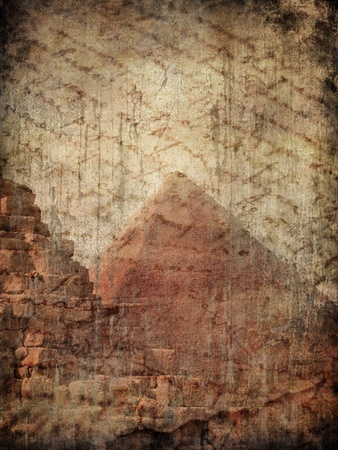 Egyptian pyramid on grunge background  Stock Photo - 10966537