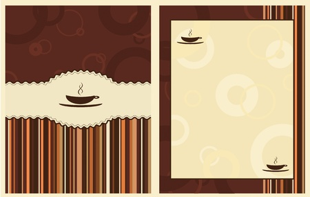 caffeine: design for coffee shop menu Illustration