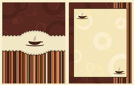 design for coffee shop menu Stock Illustratie
