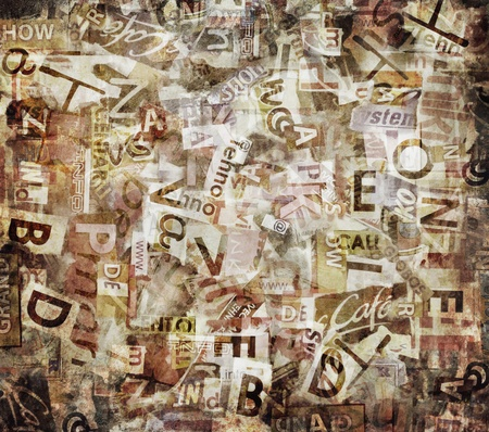 Grunge textured background with old torn newspapers Stock Photo - 11575970
