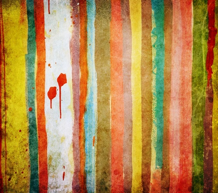 Concrete grunge wall painted with colorful stripes Stock Photo - 11843276