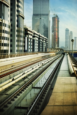 Railroad in Dubai, United Arab Emirates
