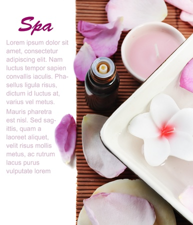 Spa treatment concept with empty space for your text Stockfoto