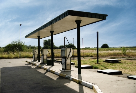 Gas station in rural area