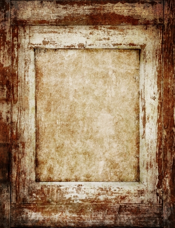 Vintage wooden frame with empty space inside