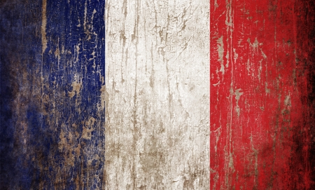 Grange textured flag of France photo