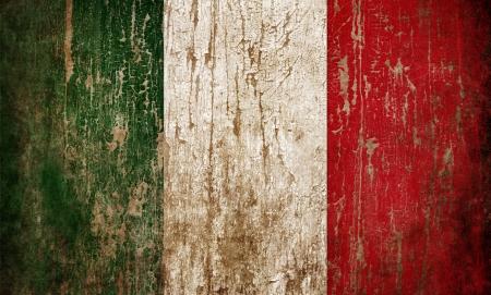 italian flag: Grange testurizzati di bandiera Italia