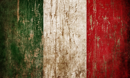 the italian flag: Grange textura bandera de Italia