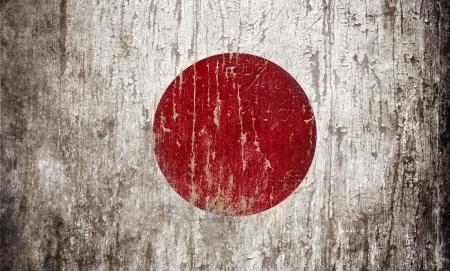 grange: Grange textured flag of Japan