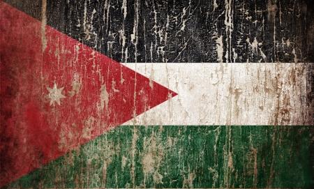 Grange textured flag of Jordan photo