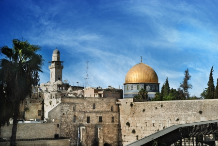 Al Aqsa and Western Wall, Jerusalem, Israel photo
