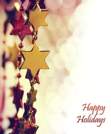 Holiday background with copy space photo