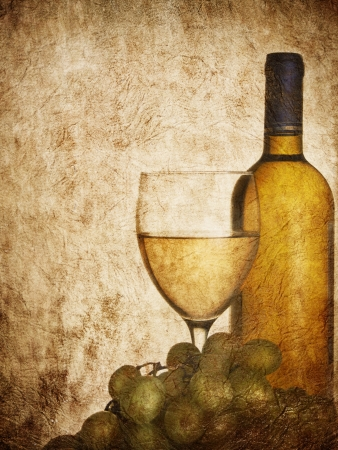 Vintage design for wine list photo