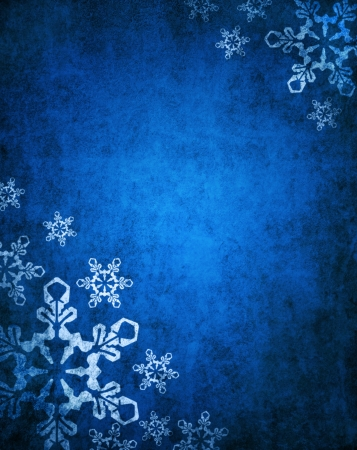 Christmas blue background with white snowflakes Banco de Imagens - 16478777
