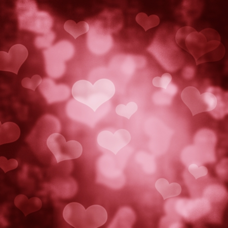 Valentine design with heart bokeh photo