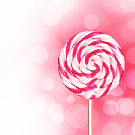 Розовый дизайн леденец с Copyspace