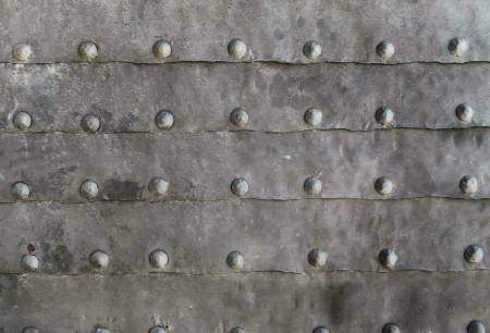Rustic metal texture with old nails