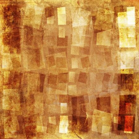 Orange textured grunge canvas background Stockfoto