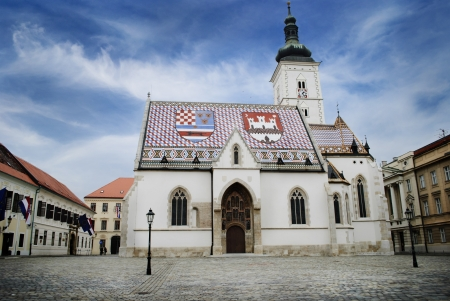 St. Mark's Church in Zagreb, Croatia  photo