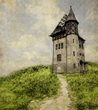 Old Castle. Textured overlay added. photo