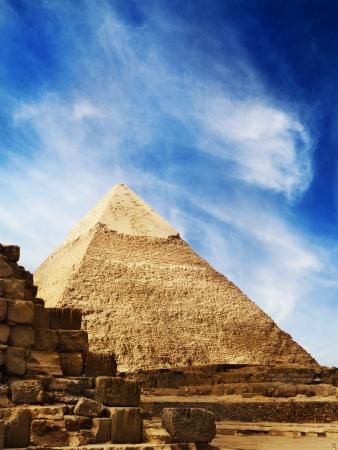 chephren: The Pyramids in Giza, Egypt Stock Photo