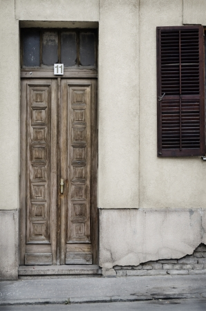 Vintage doors on the rustic house Stock Photo - 20410880