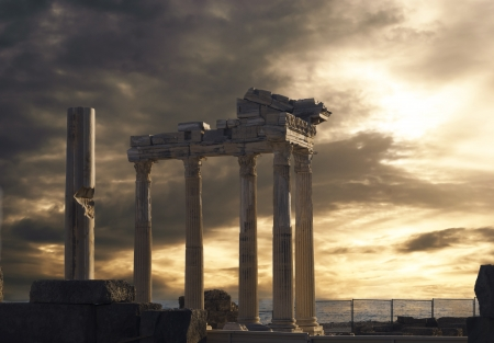 Temple of Apollo in Side, Turkey photo