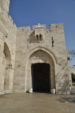 Jaffa Gate in Old city of jerusalem, Israel photo