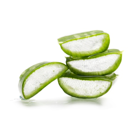 Aloe Vera isolated over white background photo