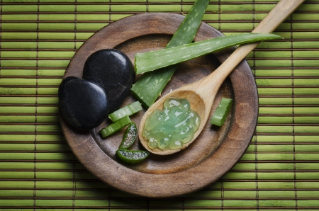 Spa concept with aloe vera photo