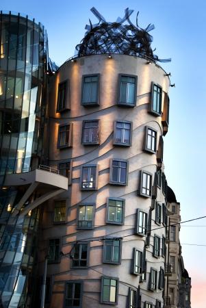 frank: Dancinga House, modern building designed by Vlado Milunic and Frank Gehry, Prague Stock Photo