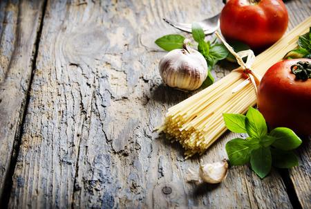 Food ingredients for italian pasta photo