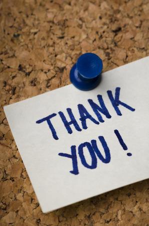 Sticker met bedankbriefje