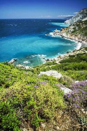 skiathos: Beautiful landscape in Skiathos island, Greece. Stock Photo
