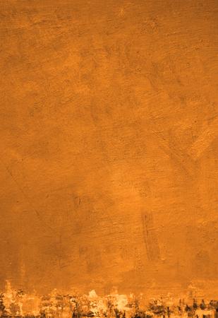 Halloween orange parchment background. Textured grunge art canvas. October 31 invitation party design.