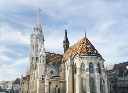 Architecture and landmarks in Budapest. St. Matthias church in Budapest, Hungary.