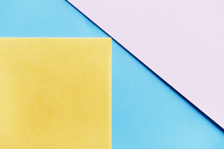 Abstract pastel geometry creative top view.