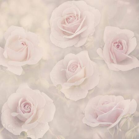 Beautiful pastel floral pattern Banco de Imagens